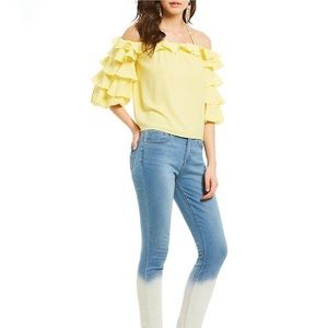 1. State - off shoulder ruffle sleeve top